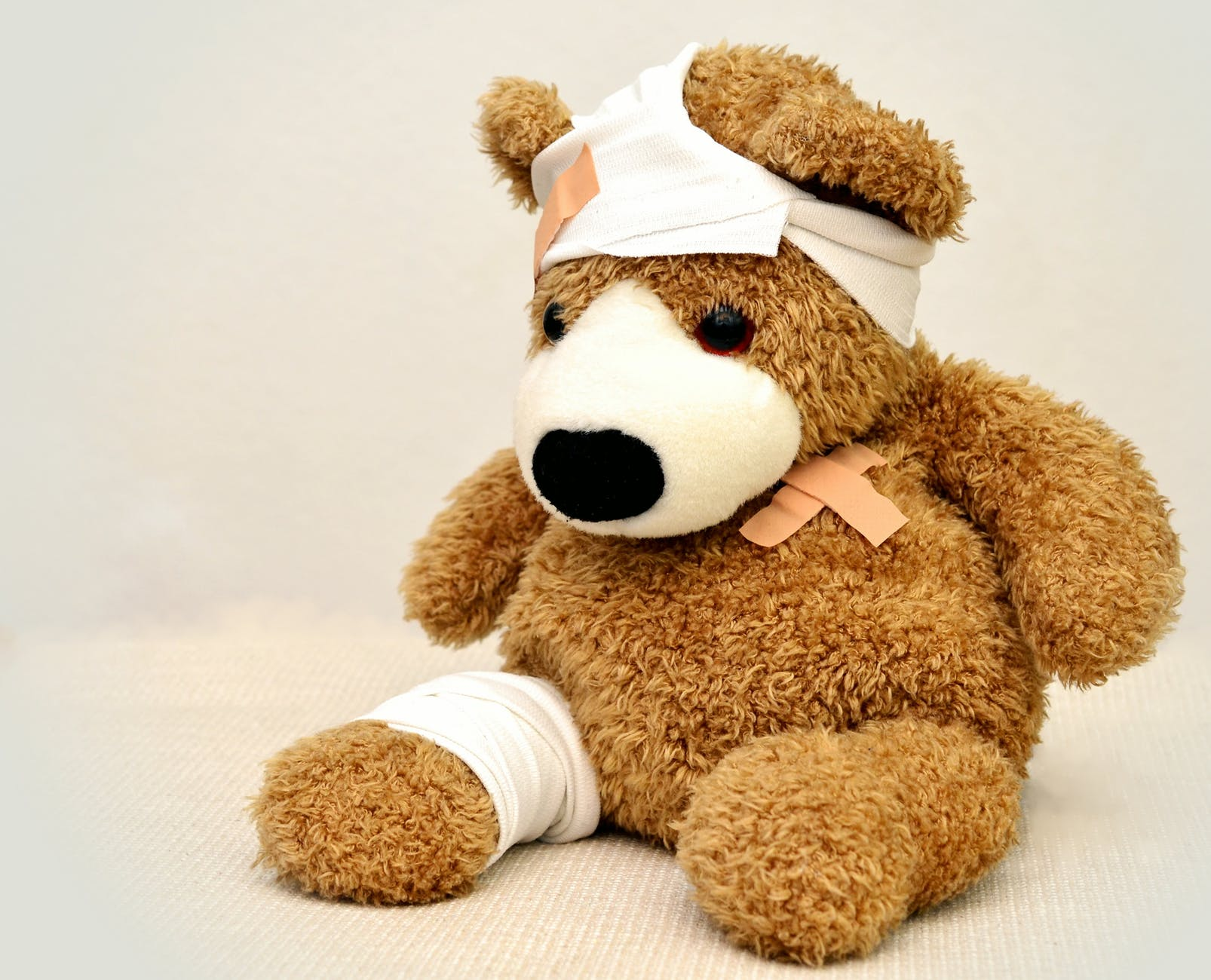 brown and white bear plush toy