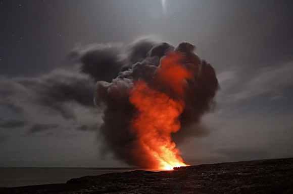 active ash cloud ashes blaze