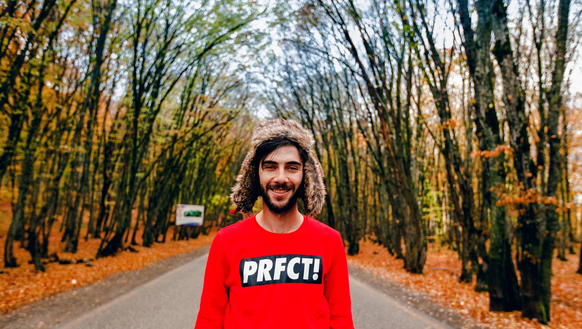 man person portrait autumn